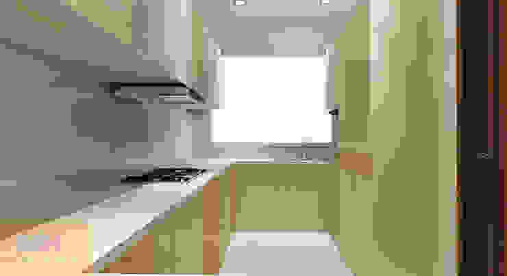kitchen design by Matter Of Space Pvt. Ltd. Minimalist Plywood