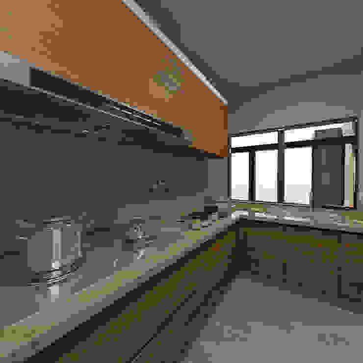 kitchen design by Matter Of Space Pvt. Ltd. Minimalist Quartz