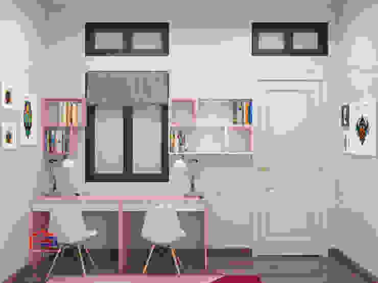 Hình ảnh thiết kế 3D không gian phòng ngủ cho bé gái nhà chị Hướng - Vĩnh Phúc: hiện đại  by Nội thất Hpro, Hiện đại