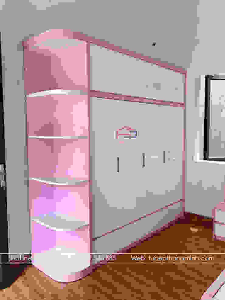Hình ảnh thực tế phòng ngủ bé gái nhà chị Hướng - Vĩnh Phúc: hiện đại  by Nội thất Hpro, Hiện đại