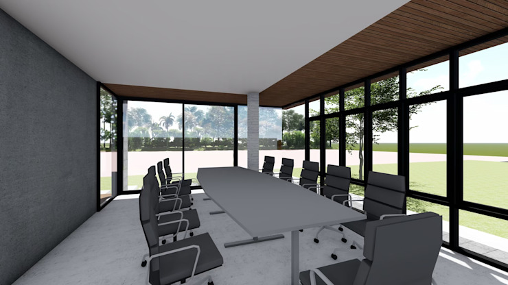 ห้องประชุม โดย Nourish House