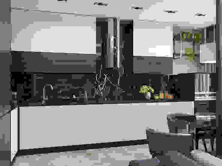 Дизайн-проект квартиры для молодого человека Кухня в стиле минимализм от Анастасия Свистович Минимализм
