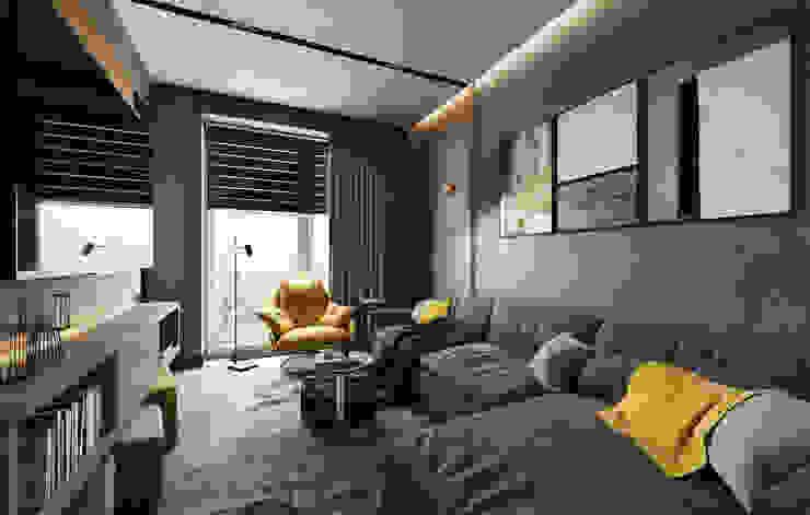 Industrial style living room by Студия дизайна интерьера Татьяны Лазурной Industrial
