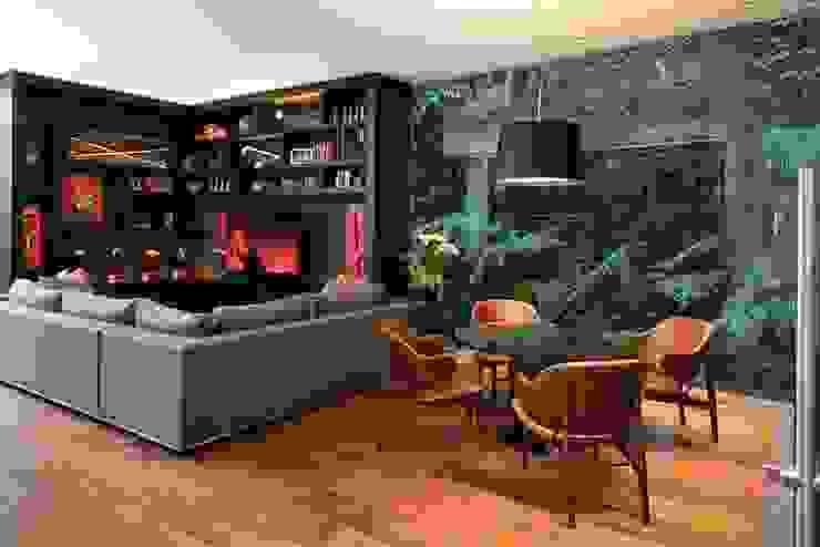 Mueble de TV de Revah Arqs Moderno Madera Acabado en madera