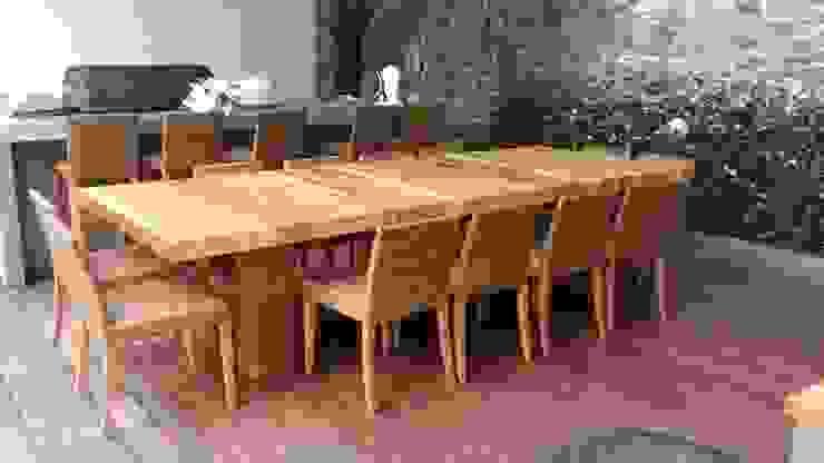 Mesa de terraza de Revah Arqs Moderno Madera Acabado en madera