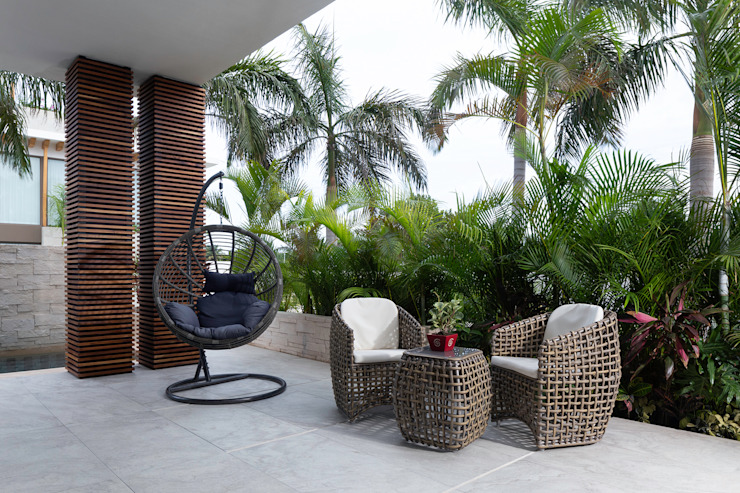 Daniel Cota Arquitectura   Despacho de arquitectos   Cancún Modern balcony, veranda & terrace Wood Wood effect