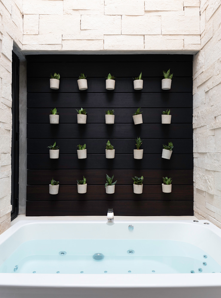 Daniel Cota Arquitectura   Despacho de arquitectos   Cancún Modern bathroom Wood Wood effect
