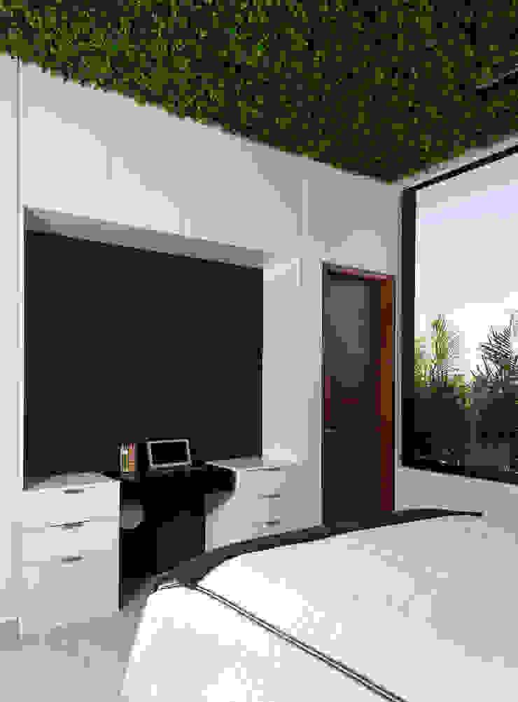 Daniel Cota Arquitectura   Despacho de arquitectos   Cancún Small bedroom Concrete White