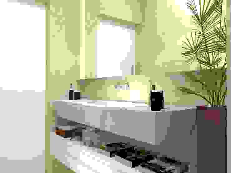 Banheiro Social: Banheiros  por Multiplanos Arquitetura,