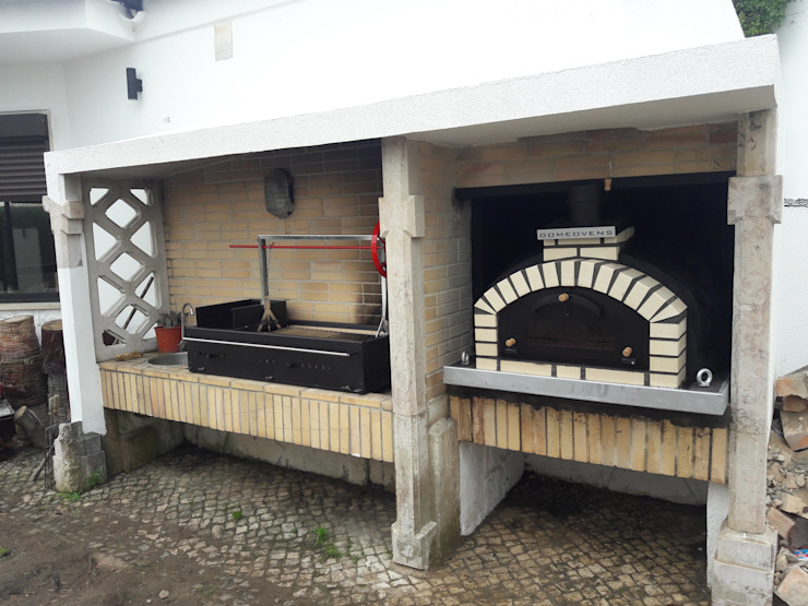 Argentinian Grill and Pizza Oven Mediterranean style garden by Dome Ovens® Mediterranean