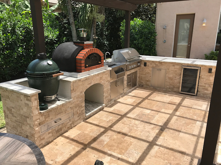 Dome Ovens - Brick ovens and accessories Mediterranean style garden by Dome Ovens® Mediterranean