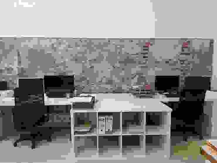 Detalle de contrastes de materiales O2 eStudio BIM arquitectos S.L.P Oficinas y tiendas