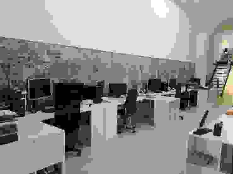 contrastes nuevo viejo O2 eStudio BIM arquitectos S.L.P Oficinas y tiendas de estilo mediterráneo