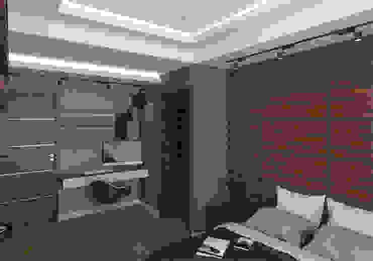 EB 54 Casa Habitación : Recámaras pequeñas de estilo  por Proyecto 3Catorce,