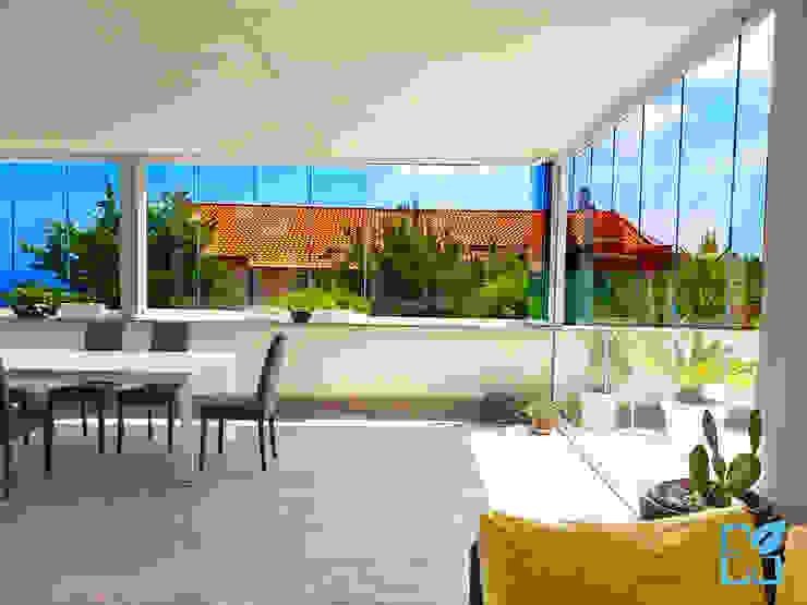 SEAR di Azzarello Caterina & C snc Moderner Garten Glas Weiß