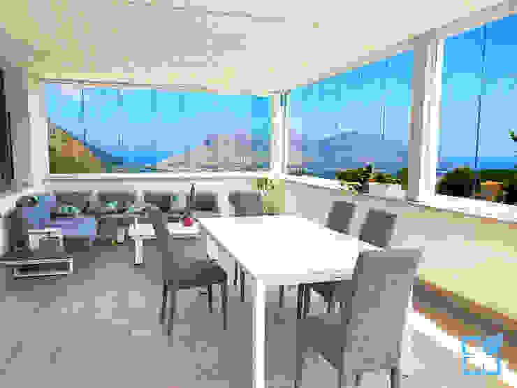 SEAR di Azzarello Caterina & C snc Balkon Glas Transparent