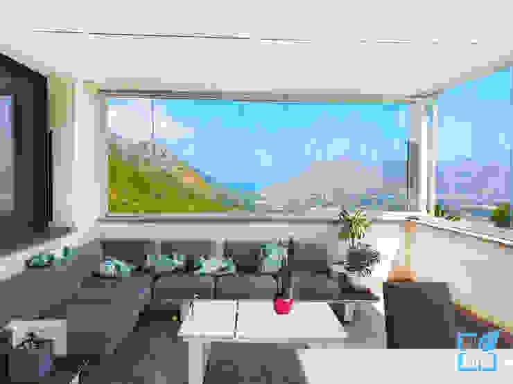 SEAR di Azzarello Caterina & C snc Moderner Balkon, Veranda & Terrasse Glas Weiß