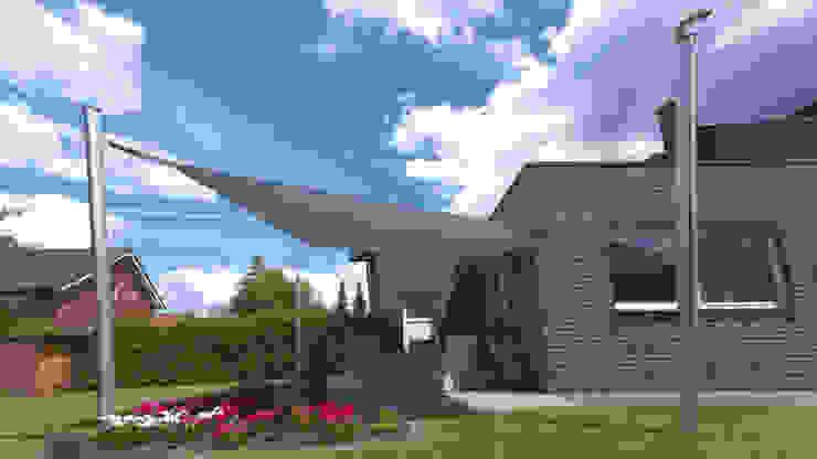 Elektrisch Aufrollbares Sonnensegel Terrasse Rechteckig By