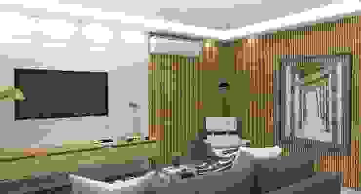 Canto de Leitura e Relaxamento Salas de estar modernas por Arquiteto Virtual - Projetos On lIne Moderno Madeira Efeito de madeira