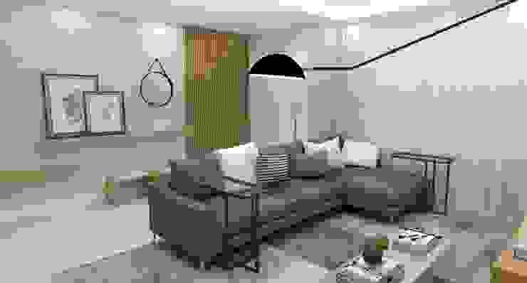 Sala de Estar Salas de estar modernas por Arquiteto Virtual - Projetos On lIne Moderno Madeira Efeito de madeira