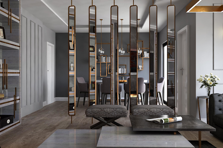 SEPARATÖR roommoormimarlık Modern Oturma Odası