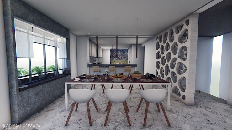 Dining room by Anastomosis Design Lab,