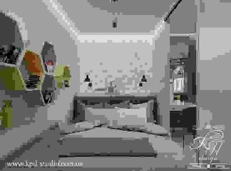 غرف نوم صغيرة تنفيذ Студия дизайна интерьера и архитектуры 'КПД , إسكندينافي