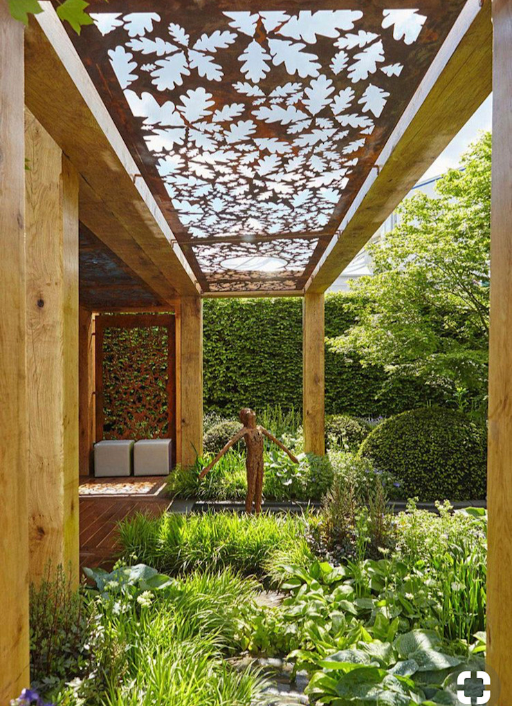 Rustic style garden by Ontech Rustic