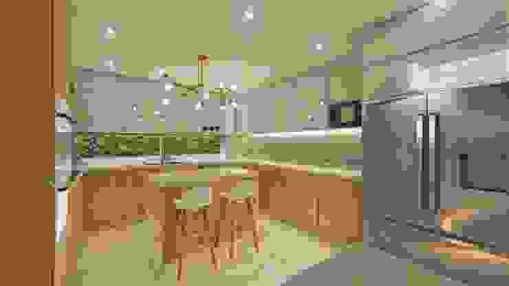 DISEÑO Y REMODELACIÓN COCINA - CASA 05 de DIKTURE Arquitectura + Diseño Interior Moderno Cuarzo