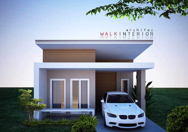 walkinterior Small houses Concrete White