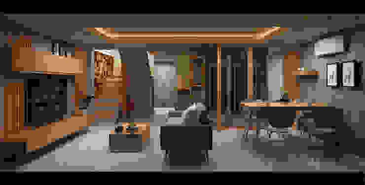 loft: ผสมผสาน  โดย walkinterior , ผสมผสาน ไม้ Wood effect