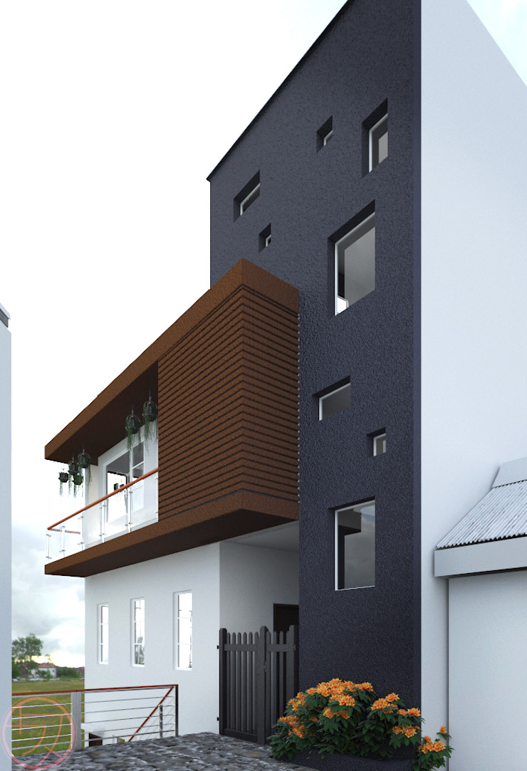 3-Storey Residential with basement Kenchiku 2600 Architectural Design Services Single family home