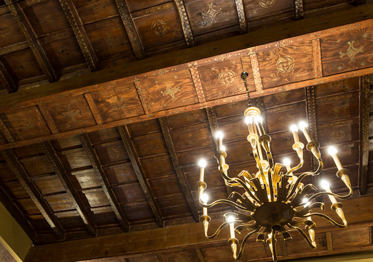 Wooden Ceiling Decoration od ARTE DELL' ABITARE Klasyczny