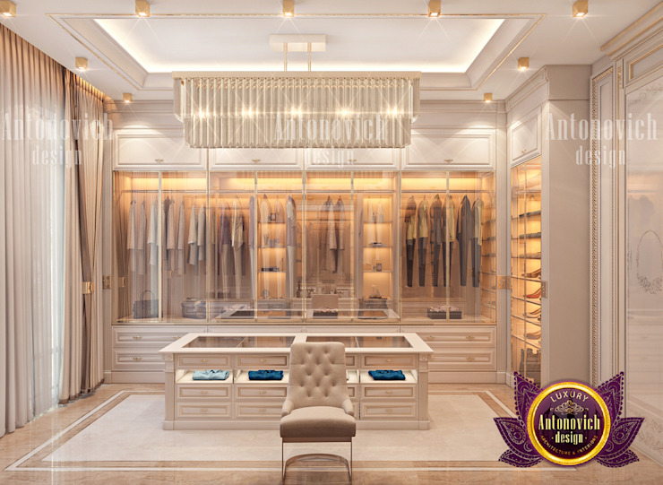 Luxury Dressing Room by Female Designer by Luxury Antonovich Design