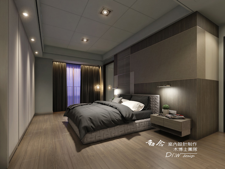 主臥室 Modern style bedroom by homify Modern