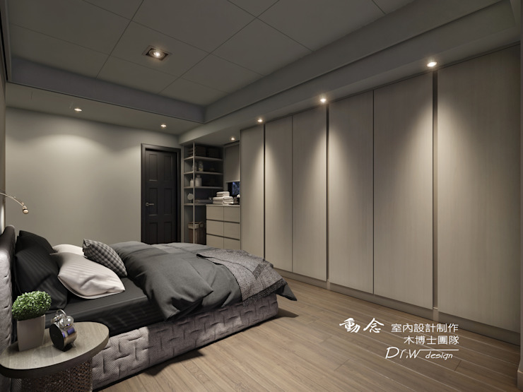 搭配矮櫃 Modern style bedroom by homify Modern