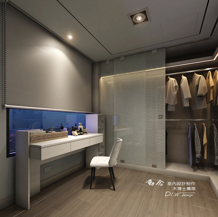 更衣室 Modern dressing room by homify Modern