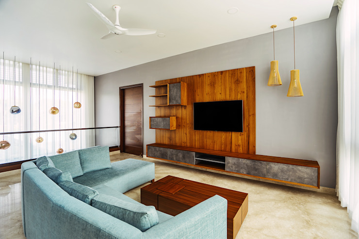 Entertainment Space. by Mr. Blueprint Modern Wood Wood effect