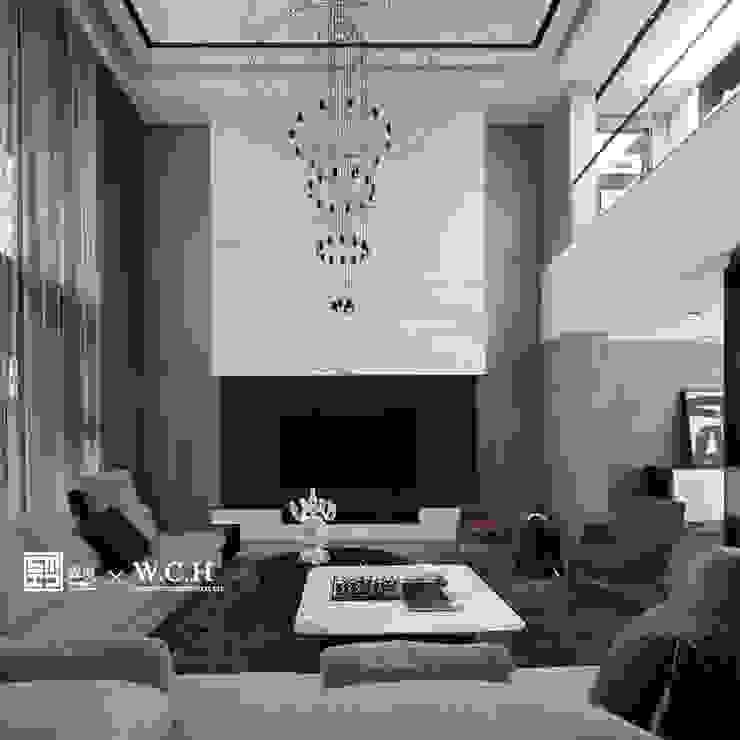 淬鍊光域:  客廳 by 森境室內裝修設計工程有限公司, 現代風