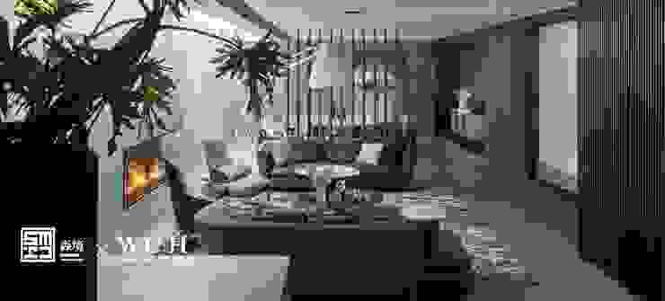 淬鍊光域 现代客厅設計點子、靈感 & 圖片 根據 森境室內裝修設計工程有限公司 現代風
