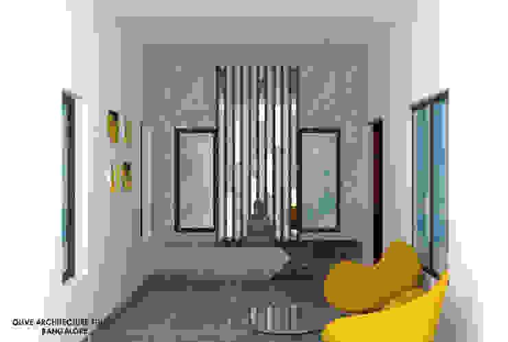 Foyer Minimalist corridor, hallway & stairs by Olive Architecture Studio Minimalist Plywood
