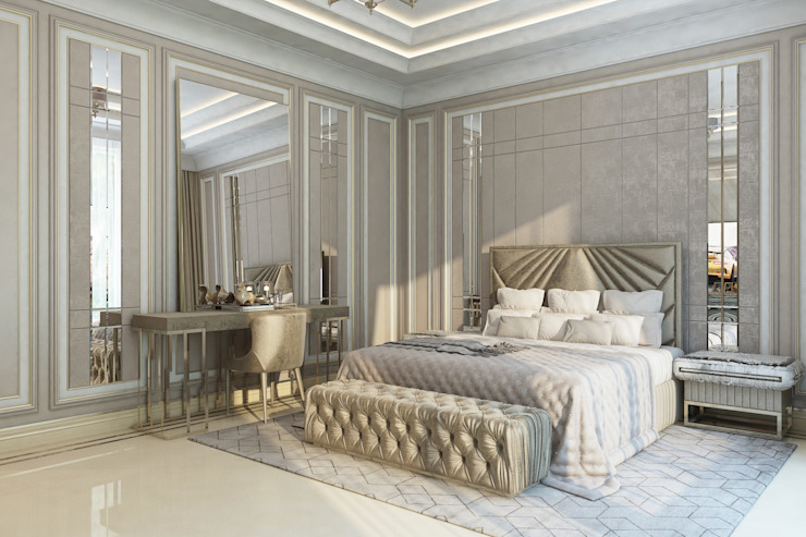 Bedroom Interior Of Female Luxury Designer by Luxury Antonovich Design