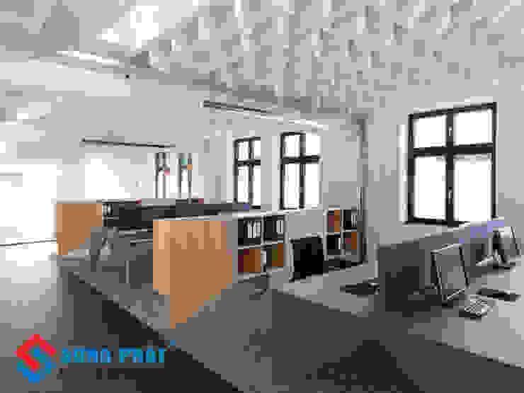 Thiết kế văn phòng mới lạ. bởi Công Ty Cổ Phần Kiến Trúc Xây Dựng Song Phát