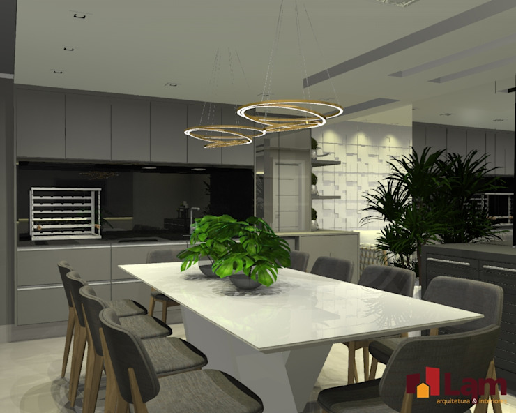 Балкон и терраса в стиле модерн от LAM Arquitetura | Interiores Модерн