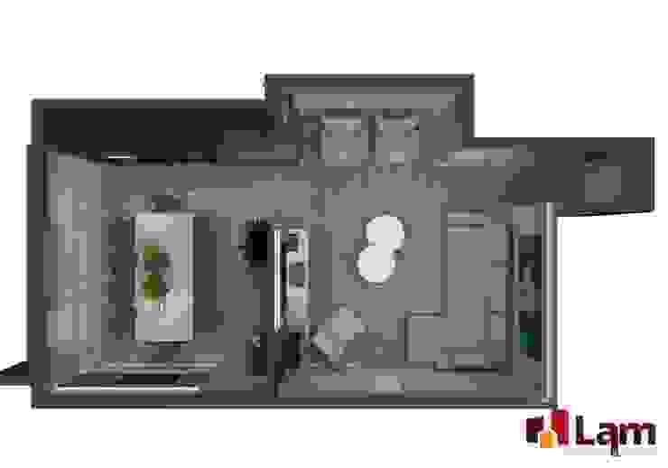 모던스타일 발코니, 베란다 & 테라스 by LAM Arquitetura | Interiores 모던