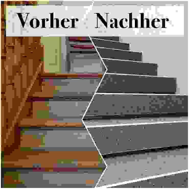 Holztreppen mit Steinteppich renovieren von Steinteppich der Balkon & Terrassenbelag deutschlandweit Modern Marmor