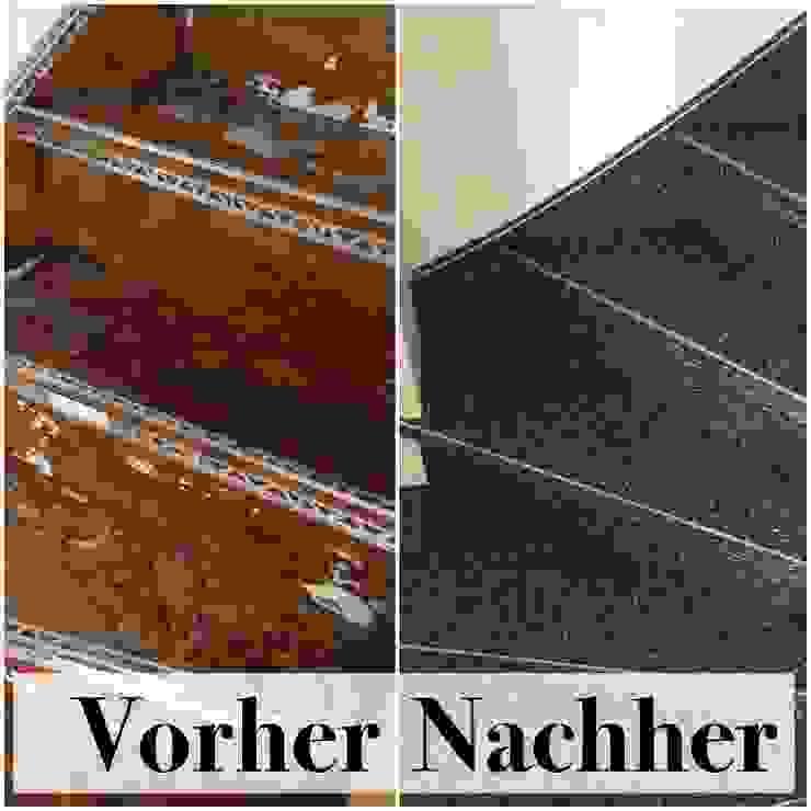 Holztreppe mit Steinteppich neu belegen von Steinteppich der Balkon & Terrassenbelag deutschlandweit Modern Marmor
