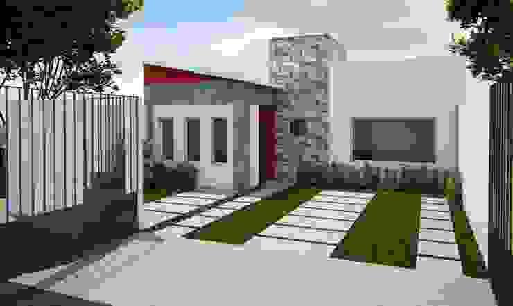 Casa habitación de Arquitectura y construcción FRATELLI Minimalista Cerámico