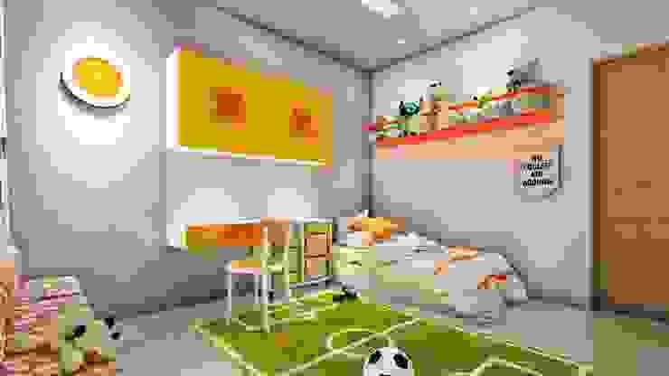 3BHK, Nyati Ambiance, Undri, Modern style bedroom by Design Evolution Lab Modern