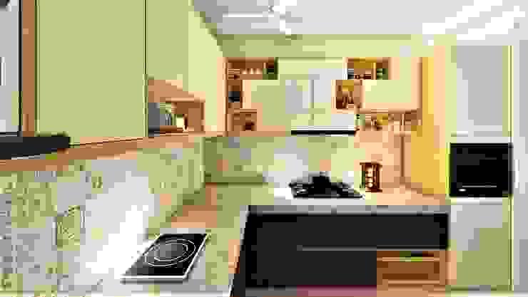 3BHK, Nyati Ambiance, Undri, Modern kitchen by Design Evolution Lab Modern